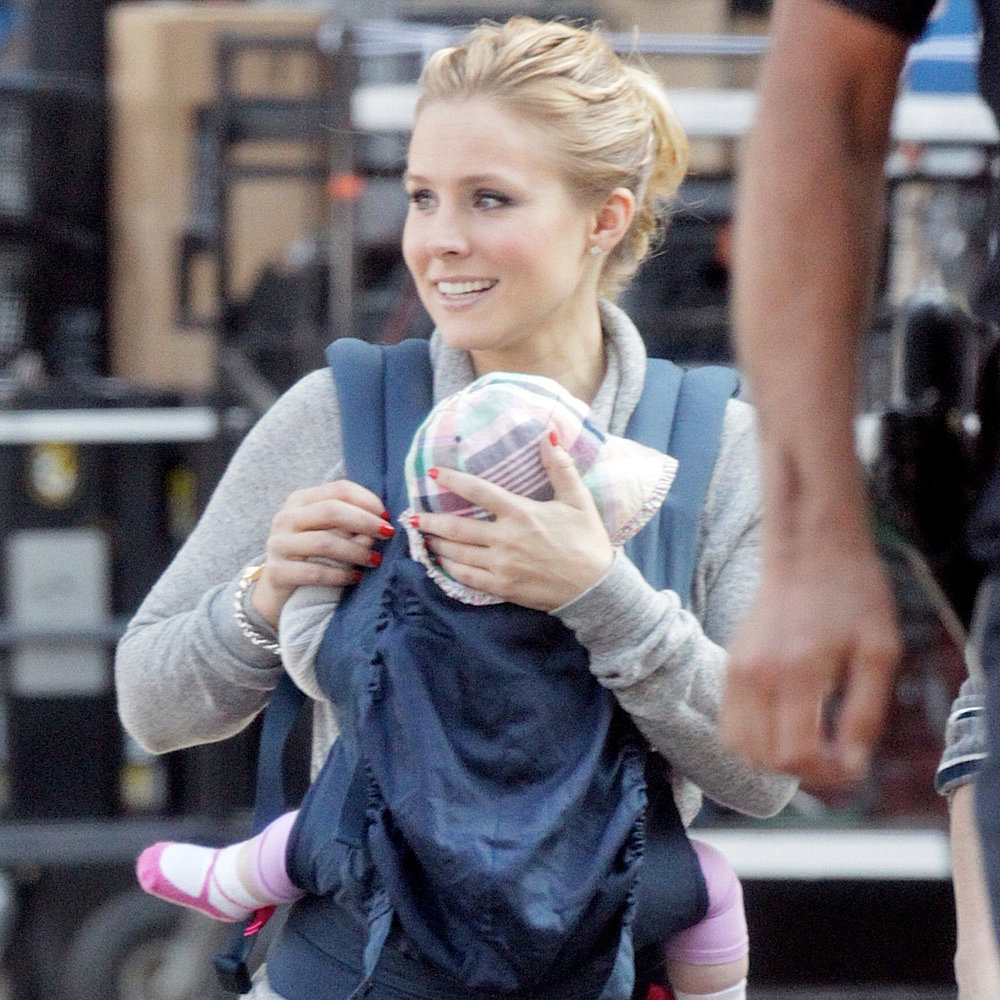 kristen bell and baby