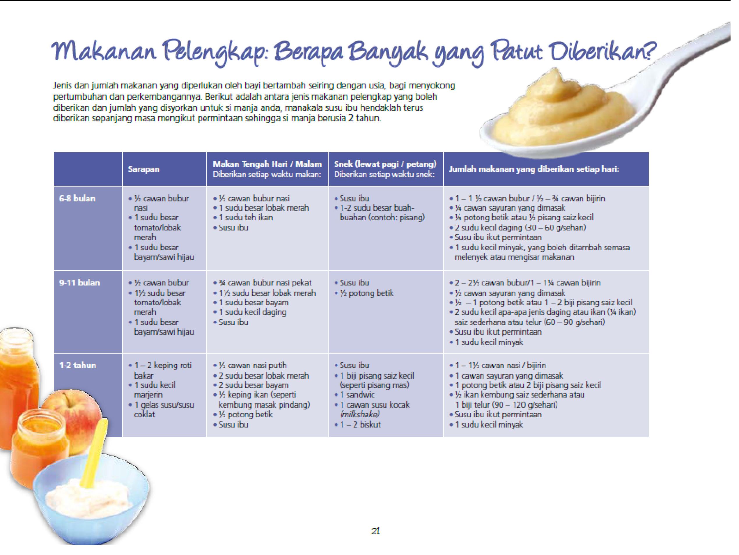 makanan pelengkap bayi 1