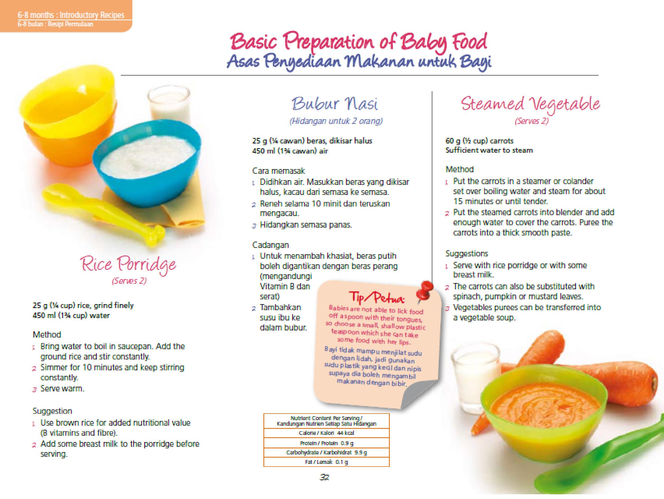 makanan pelengkap bayi 4